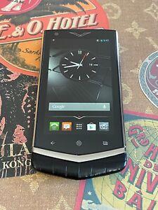 Genuine Vertu Constellation V Android Luxury Phone Black Alligator Brand New