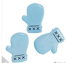"8 Winter Mitten Brads - Light Blue 5/8"" head size"