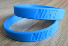 x2 Sky Blue Nike Baller Band Silicone Rubber Bracelet