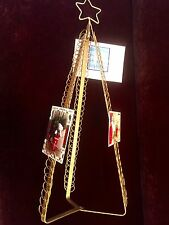 "Large Christmas Holiday Card Photo Holder  Folding Tree Decor Display 30"" Tall"