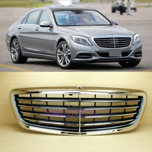 S-Class M Style Front Grille Fit Mercedes Benz W222 Chrome 2014~2020 NEW
