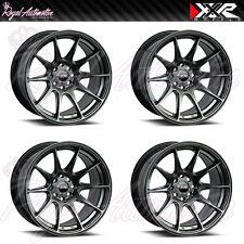 XXR 527 Concave Alloy Wheels 17x8.25 ET35 4x108 4x114.3 Chrome Black JDM Euro