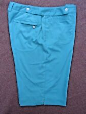 """Lilly's of Beverly Hills Bermuda Walking Shorts Womens Size 10, 30x12"""" Turquoise"""