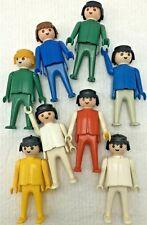 Vintage 1974 Geobra Playmobil Lot 8 Figures People
