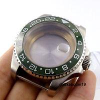 40MM Stainless Watch Case Green Ceramic Bezel Fit miyota 8205 2836 Movement