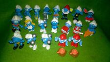 Lot de 20 jouets Kinder Schtroumpf vintage
