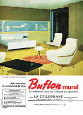 PUBLICITE ADVERTISING  1964    LA  CELLOPHANE  BUFLON  revetement mural