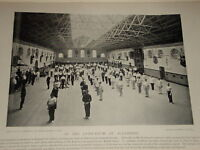 1896 GYMNASIUM AT ALDERSHOT ARMY SOLDIERS EXERCISE