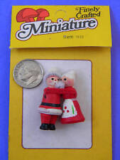 VINTAGE,COLLECTIBLE, 2 MINI, WOODEN, Mr & Mrs. Claus