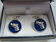gemelli lapis lazuli profilo di cavallo in argento 925 lavorazione artigianale