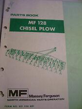 VINTAGE MASSEY FERGUSON  PARTS MANUAL -  MF  128 CHISEL PLOW
