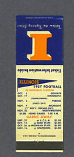University of Illinois 1957 football Match book