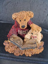 Boyds Bears  TED & TEDDY Bears Reading  w/ Box