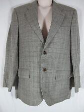 Ralph Lauren Gray Checked Silk Linen Wool Blend Blazer Sport Jacket 39 R
