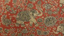 iLiv Indira Henna Elephants Curtain Upholstery Craft Designer Cotton Fabric