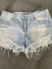 Wakee Denim Cut Off Shorts