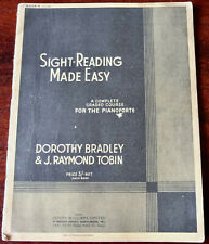 DOROTHY BRADLEY SIGHT-READING MADE EASY PIANO COURSE SHEET MUSIC BOOK 4 (1947)