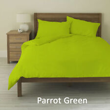 Parrot Green Solid Duvet Set + Fitted Set All Sizes 1000 Tc Egyptian Cotton