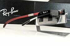 NEW RAY BAN TECH RB 8305 142/T3 Carbon Fiber Red / Grey Polarized Sunglasses