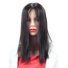"""Handmade  18"""" Straight Clip in Real Human Hair Topper Hair Piece  For Women"""