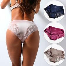 Women/Ladies' Cotton Low Waist Lingerie/Underwear/Brief Satin Ice Silk Seamless