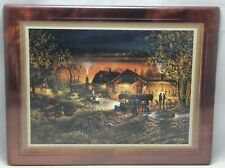 "Bradford Exchange ""Morning Warm Up"" Terry Redlin's Hometown Memories 1999"