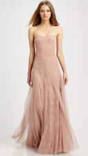 $398 BCBG Moriza Powder Pink Blush Strapless Lace Gown Dress Size 4 S Small