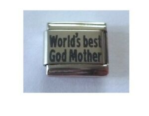 Italian Charm L31  Worlds World's Best God Mother Godmother Fits Classic Size