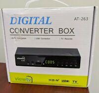 ViewTV AT-263 ATSC Digital TV Converter Box With remote and manual