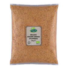 Organic Golden Linseed (Flaxseed) 3kg Certified Organic