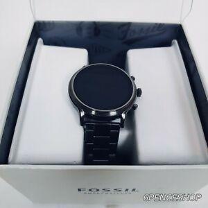 NIOB Fossil Gen 5 44mm Stainless Steel Case Smoke Heart Rate Smartwatch FTW4024