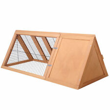 Rabbit Hutch Chicken Coop Guinea Pig Ferret Cage Hen Chook House Run Triangle