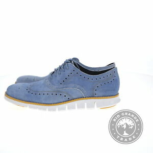 NEW Cole Haan C29668 Men's Zerogrand Wing in Denim Extra Blue / Gold / White - 9