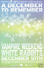 VAMPIRE WEEKEND/WHITE RABBITS 2009 PORTLAND CONCERT TOUR POSTER-Indie Rock Music