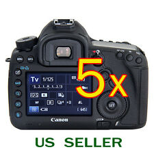 5x Clear LCD Screen Protector Guard Film For Canon EOS 5D Mark 3 III / 5DS/ 5DSR
