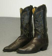 "Vintage Tony Lama Western Cowboy Black & Gold Label Boots Men's size 8.5D ""Usa"""
