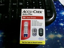 50 ACCU-CHEK AVIVA PLUS 1 BOX OF 50  TEST STRIPS EXP DATE11-20 GOOD DATE & BOXES