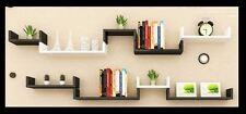 U shaped black & white x 3  Set of 3 Floating Wall Shelves new set up