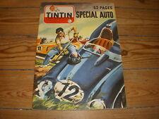 TINTIN 453 27.06.1957 20p. SPECIAL AUTO BD 24h MANS ID19 PANNEAUX CODE ROUTE
