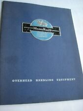 More details for vintage 1950s british monorail overhead handling equipment catalogue