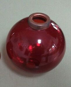 4.5'' RED GLASS BALL for weathervane OR LIGHTENING RODS fits 3/4'' rod OR 5/8''