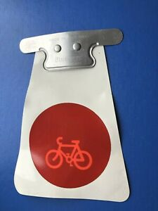 NEW OLD STOCK VINTAGE BLUEMELS REAR MUDGUARD MUDFLAP WITH REFLECTOR