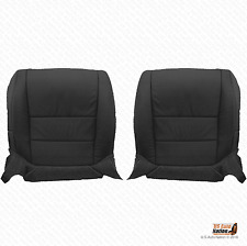 2008 Acura TL Driver & Passenger Bottom Perforated Leather Seat Cover Black