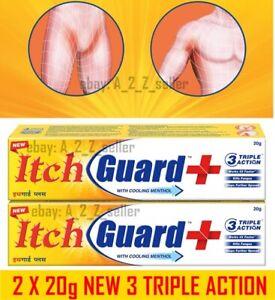 2 X 20g *NEW* Itch Guard skin Cream Fungus Jock Itchy Anti Fungal Anti Bacterial