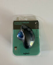Logitech Advanced Wireless Trackball Side Ball Wireless Mouse New Free Fast Ship