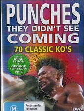 "Punches They Didn't See Coming, 70 Classic KO""s. Mike Tyson, George Foreman. NEW"