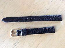 NEW SPEIDEL WATCH BAND BRACELET - Genuine Lizard Leather 11mm Black
