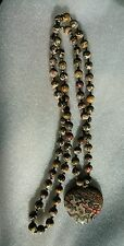 Leopard Skin Jasper Bead Necklace & Leopard Skin Pendant Bead Spacers