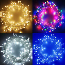 100-1000 LED String Fairy Lights On Clear Cable For Christmas Tree Party Wedding