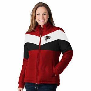 Atlanta Falcons - NFL Women's Slap Shot Polyester Jacket by G-lll - NEW